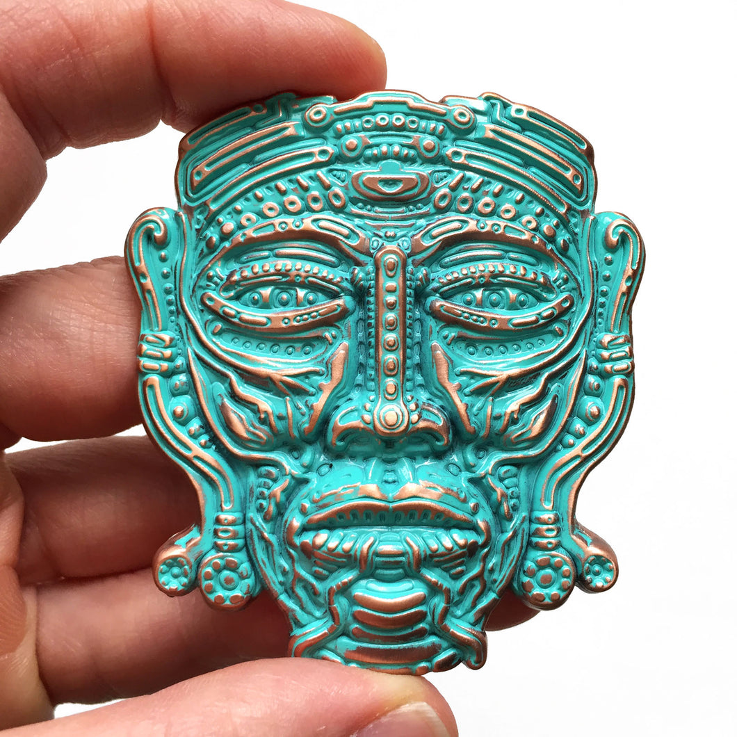 Espiritu - Green Patina Pin