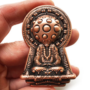 Meditation is the Key - Copper Pin