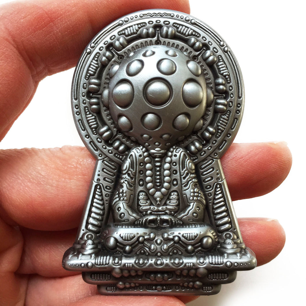 Meditation is the Key - Silver Pin