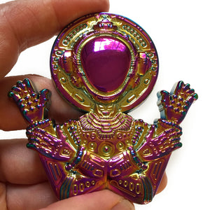Greetings From Innerspace - anodized pin