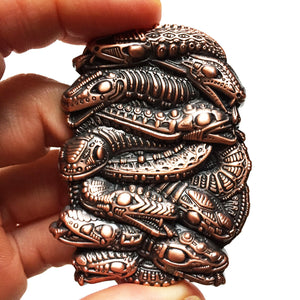 SERPENTINE PIN - COPPER