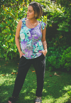 Polera Maternal y Lactancia Lisa Calipso