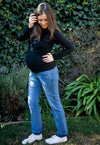 Jeans Maternal Recto Cropped
