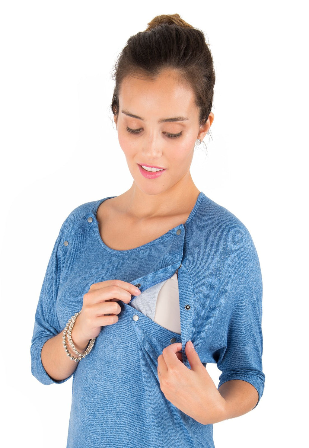 Polera Maternal y Lactancia Emilia Denim