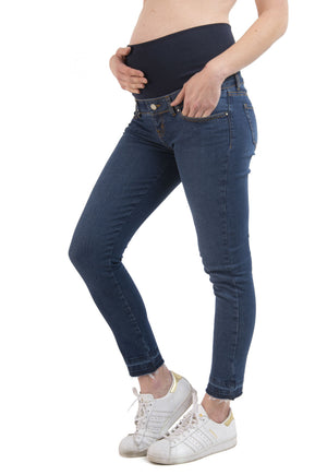 Jeans Maternal Cropped Blue