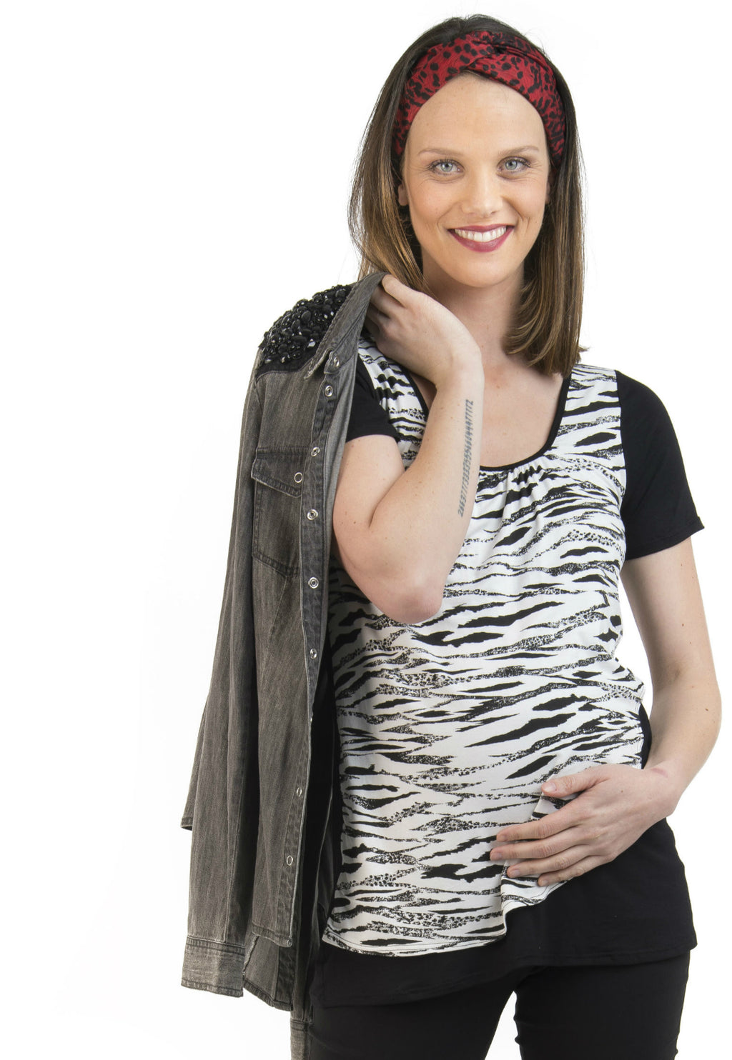 Polera Maternal y Lactancia Lupe Animal