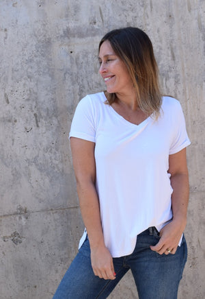Polera Maternal y Lactancia Monica Blanco