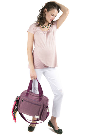 Bolso Maternal Paris Morado
