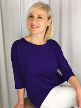 Our Bamboo Lounge Top is made from 95% Bamboo and 5% Elastane making it super light and silky soft. Being a breathable fabric, it draws moisture away from your body keeping you cool and fresh. Featuring a Hi-Lo hemline and 3/4 length sleeves, the relaxed shape is perfect for those lounge around days with family and friends, when you need something to throw on that looks and feels great. Available in a range of beautiful colours, team it with some great accessories to make it pop!