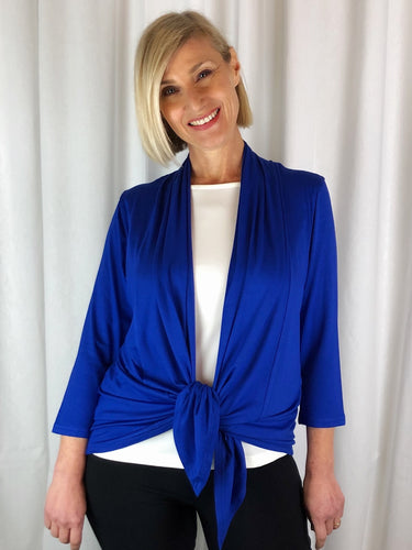 Our Bamboo Cardi is made from 95% Bamboo and 5% Spandex making it super light and silky soft. Being a breathable fabric it draws moisture away from your body keeping you cool. Available in a range of beautiful colours, you'll buy one and come back for more. Best of all, they're
