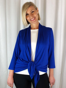 "Our Bamboo Cardi is made from 95% Bamboo and 5% Spandex making it super light and silky soft. Being a breathable fabric it draws moisture away from your body keeping you cool. Available in a range of beautiful colours, you'll buy one and come back for more. Best of all, they're ""Made in Australia""."