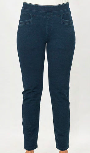 Our Pull On Leisure Jean is made from a soft rich blend of Cotton, Polyester and Spandex making them super comfy and easy to wear. Featuring a yoke around the waist for a more flattering shape, pockets and a mock fly, the legs are tapered to give a streamlined silhouette. Crafted for the ultimate in comfort, these jeans will be your new go-to!