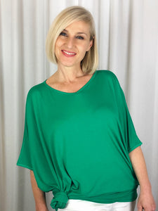 "Our Bamboo Easy Top is made from 95% Bamboo and 5% Elastane making it super light and silky soft. Being a breathable fabric, it draws moisture away from your body keeping you cool and fresh. Generously shaped and great for covering those ""Covid Curves"", it's the ideal go to for any time of day. Available in a range of beautiful colours, team it with some great accessories to make it pop!"