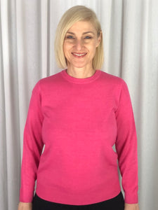 "Affordable Luxury! Our Classic Crew Neck Pullover is made from a ""cashmere like"" acrylic yarn. This low allergy fibre is the perfect choice for a beautifully soft, easy care knit. It's warm and cosy, machine washable and available in nine superb colours."
