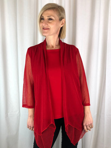Made from a semi-sheer stretch mesh, this double layered cardi has 3/4 sleeves and is available in four great colours. Being lightweight, it's an essential piece for travelling or to add some colour and coverage to your outfit.