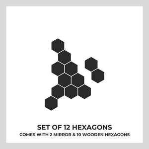 Hexagon Wood & Mirror Wall Panel