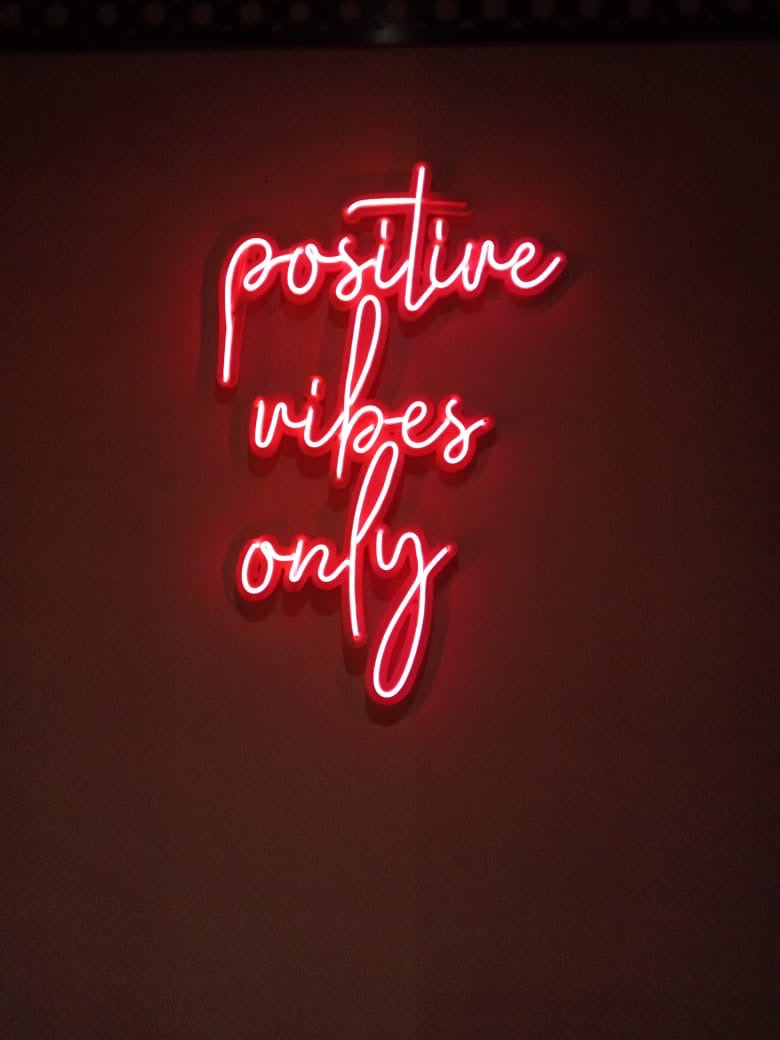 Positive Vibes Only  Neon