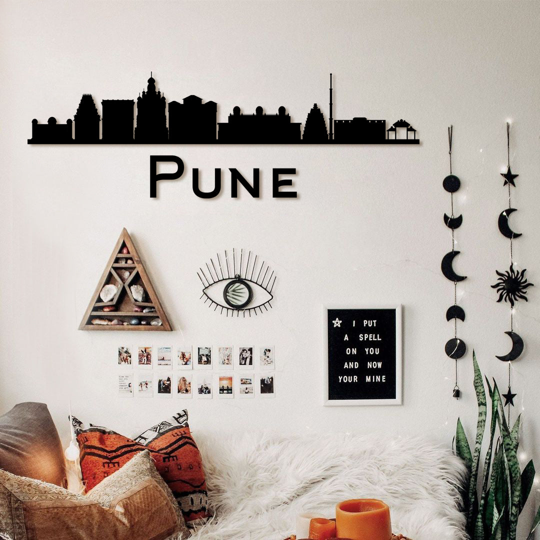Pune City Skyline Wall Hanging