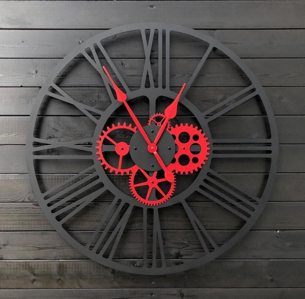 Dazzling Red Clock