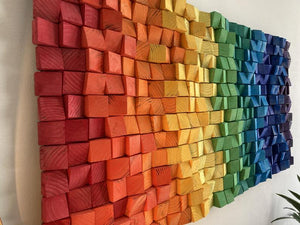 Rainbow Wood Mosaic