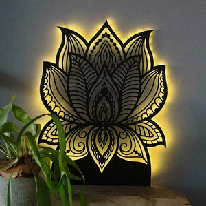 LED Lotus Flower Wall Hanging