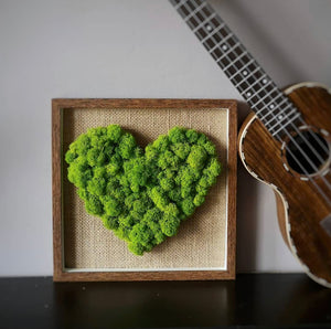 Love Box Moss Wall Art