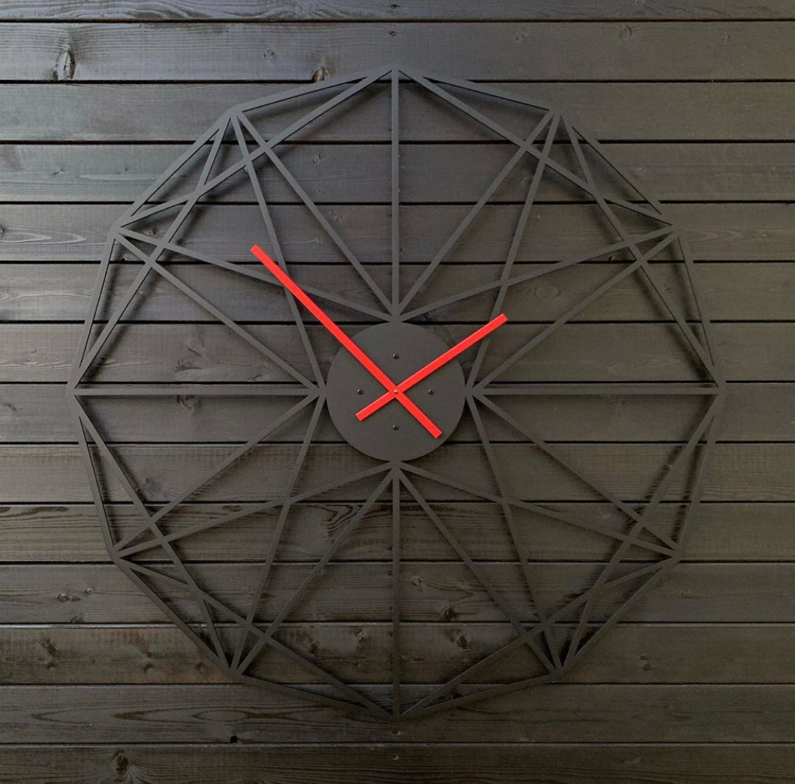 Bright Red Clock