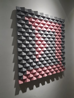 Pink & Grey Wood Mosaic