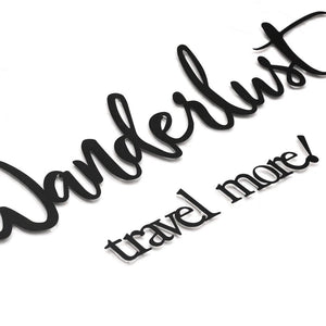 Wanderlust Travel More Wall Hanging