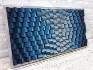 Blue Gray Wood Mosaic