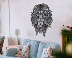Detail Lion Head Wall Hanging