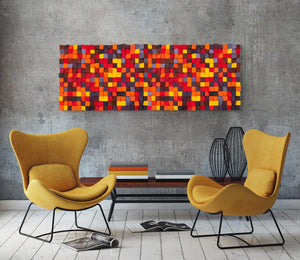 Red Blend Wood Mosaic