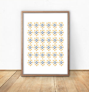 Ikat Watercolor Pattern
