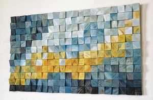 Yellow Sea Dragon Wood Mosaic