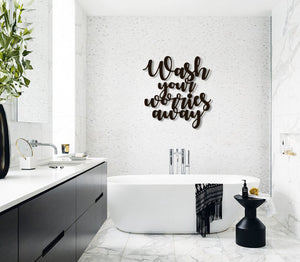 Wash Your Worries Away Wall Hanging