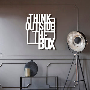 Think Outside The Box Wall Hanging
