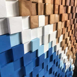 Abstract Wood Mosaic