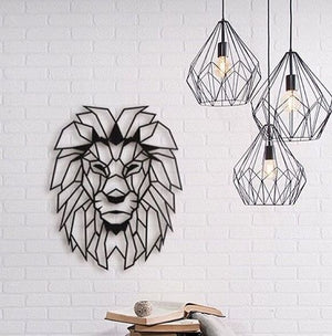 Lion Head Wall Hanging