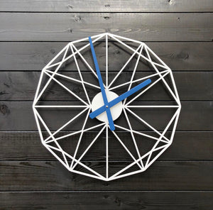 White & Blue Clock