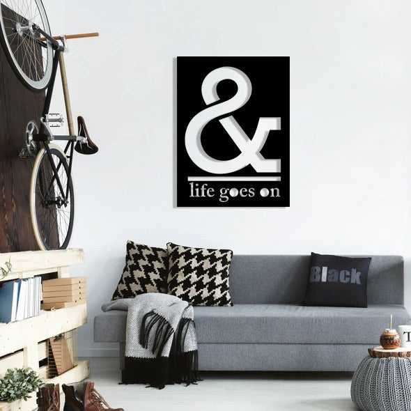 & Life Goes On Wall Hanging