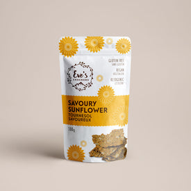 Savoury Sunflower keto snacks from Eve's crackers.