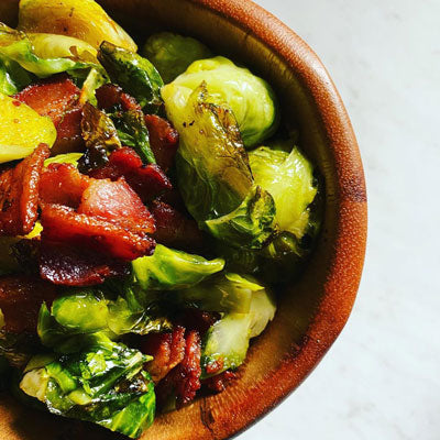 easy keto snacks recipes brussel sprouts and bacon