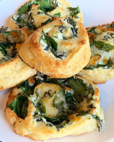 spinach pinwheels keto snack recipe