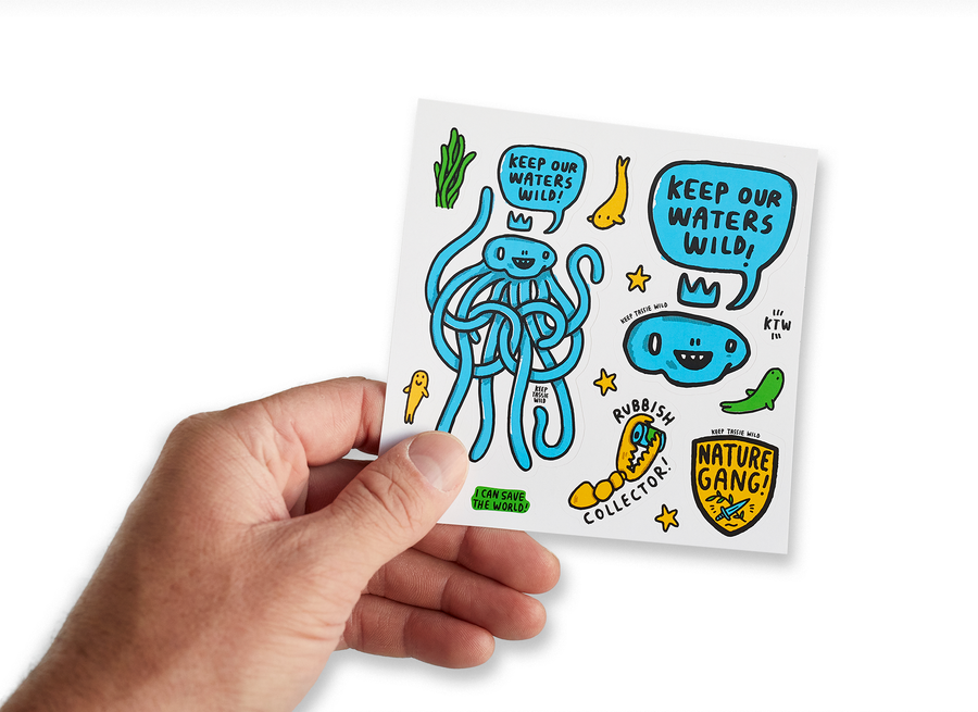 Keep Our Waters Wild Sticker Sheet