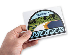 Restore Pedder Bumper Sticker