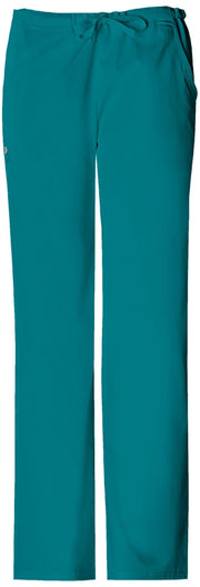 Cherokee Luxe Women's Low Rise Straight Leg Drawstring Pant - 1066P  Petite - ScrubHaven