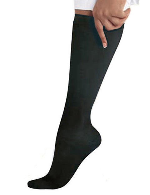 14317 BLACK COMPRESSION KNEE HIGH SOCKS /1 PR. - ScrubHaven