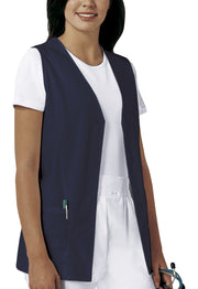 Cherokee Professional Solids Women's Button Front Vest - 1602 - ScrubHaven