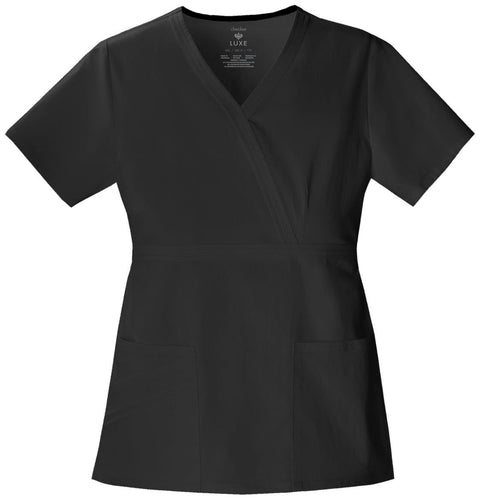 Cherokee Luxe Women's Mock Wrap Top - 1841 - ScrubHaven