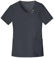 1999 Crossover V-Neck Pin-Tuck Top